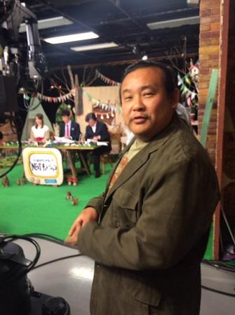 テレビ朝日のスタジオにてイメージ1