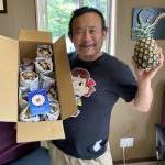 昨年、社員研修でお世話になった三拝云さんからたくさんのピーチパインをいただきました!!